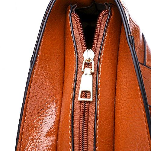 Borse Nuove Donne A Coccodrillo Delle Selvaggia Modello Moda Borsa Diagonale Semplice Spalla Rzl Elegante Brown Coccinelle amp; Atmosfera dc610qwf8