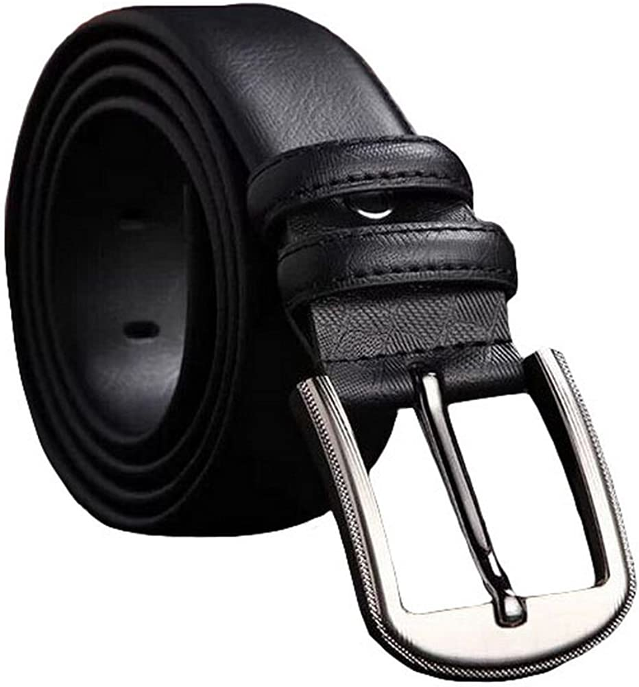 Mens 38mm Leather Reversible Belt-110CM-07 Black