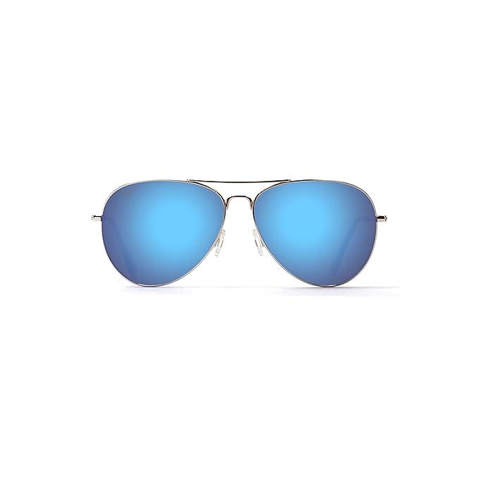 8096bd1466c4e Maui Jim B264-17 Silver Mavericks Aviator Sunglasses Polarised Lens  Category 2  Maui Jim  Amazon.co.uk  Clothing