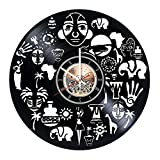 choma Africa Travel Handmade Vinyl Record Wall Clock - Kitchen room wall decor - Gift ideas for women and men, boys and girls – Unique Art Design