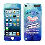 Apple iPod Touch 5 (5th Generation) iPod Touch 6 (6th Generation) Vinyl Sticker (Not a case), Fincibo (TM) Accessories Skin Decal Cover, Bible Verses Proverbs 3:5 Trust In The Lord (Pastel)