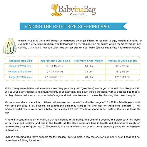 Double Layered BabyinaBag Baby Sleeping Bag Sleeping Sack Summer Model 1 Tog