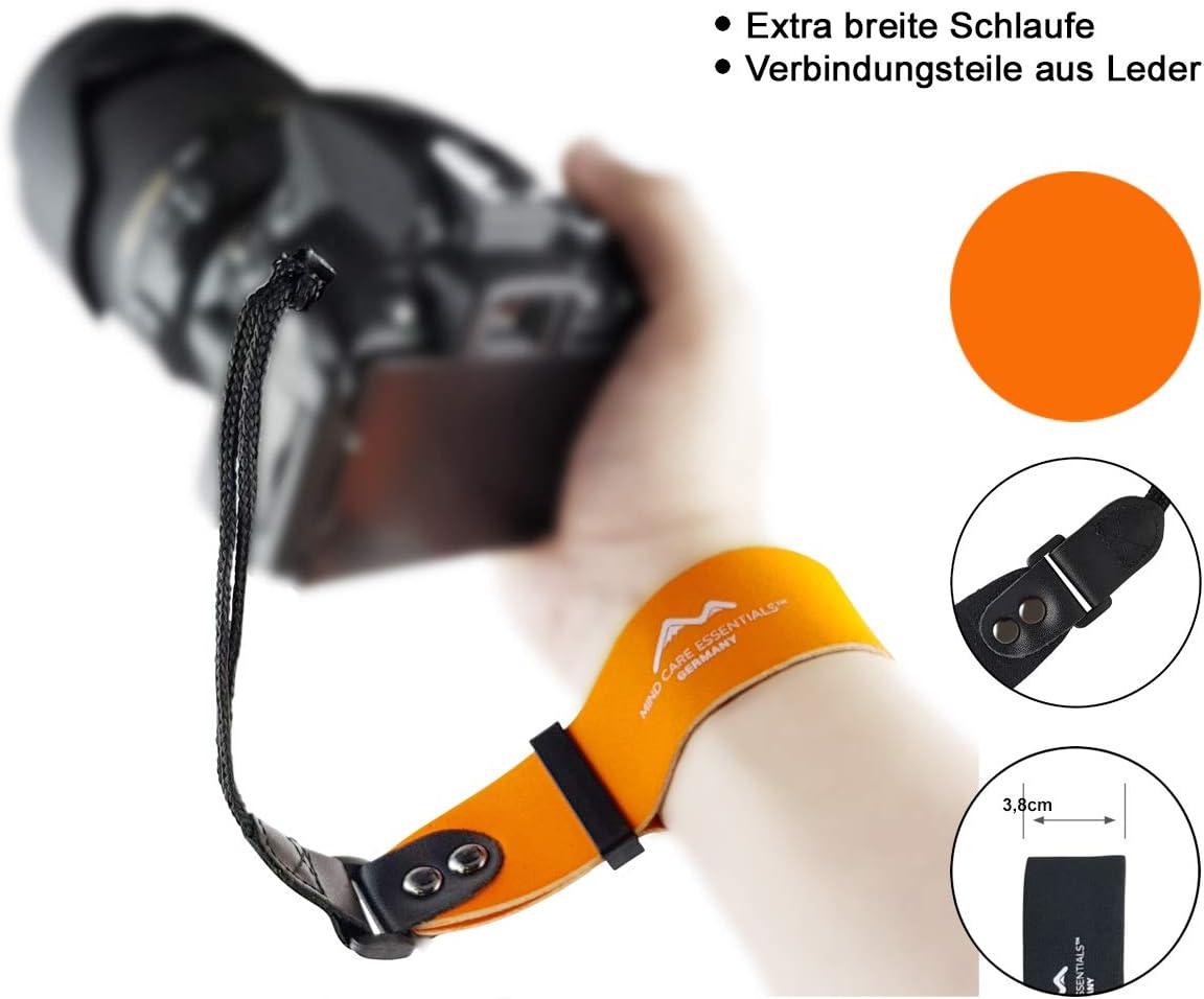 Neopren Kamera Handschlaufe Extra Breit Orange Echt Kamera