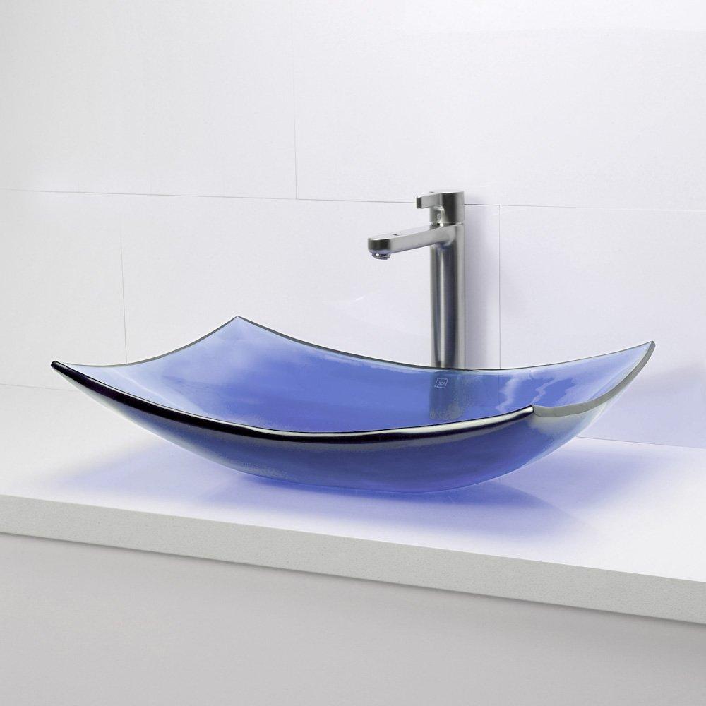 DECOLAV 2800-HNC Darya Incandescence Rectangular Vessel Sink Honeycomb