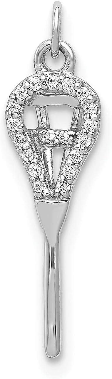 Lex /& Lu 14k White Gold Diamond Pendant LAL3328