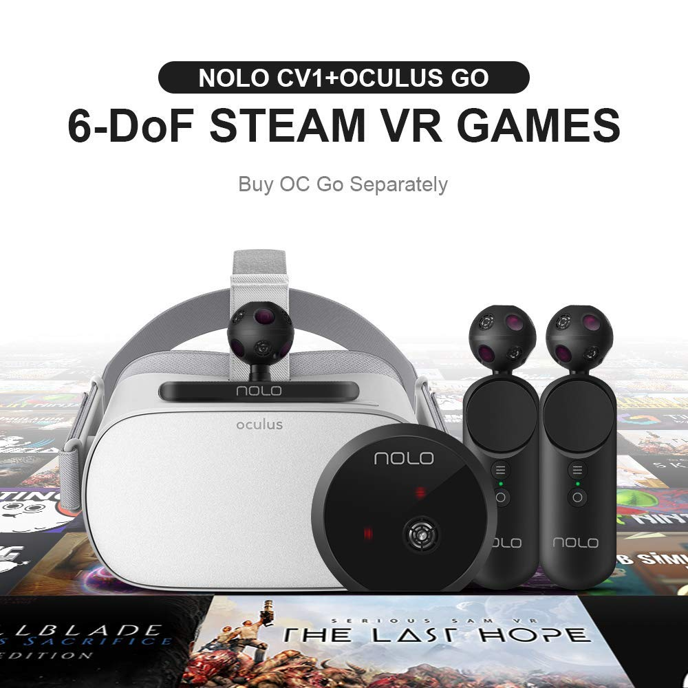 NOLO VR Controllers and Tracking Kit for Virtual Reality Headsets,  Compatible with Smartphones, PC and Steam VR Play