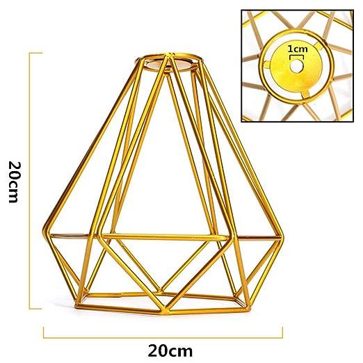 Lámpara de techo de metal vintage, con forma de jaula de diamante ...