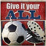 BR &Nameinternal - Give It Your All - Soccer 21x21 canvas Wall Art, by Lori Siebert