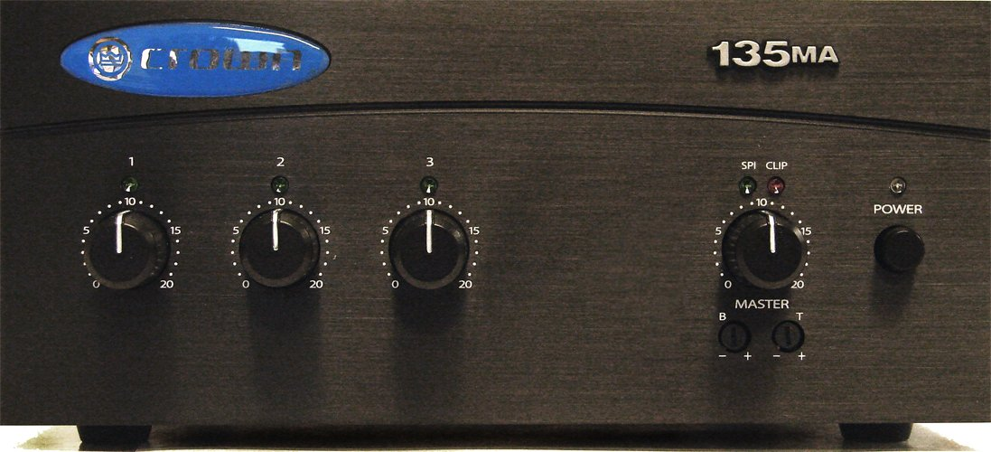 Crown 135MA Three-input, 35-Watt Mixer/Amplifier Harman Music Group G135MA