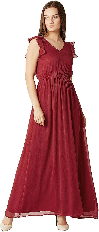 Amazon Com Radanya Maroon Long Dress Party Wear Fashionable Chiffon Designer Dress Indian Women S Stylish Dress S Xxl Clothing