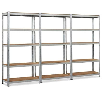 Home & Garden Yaheetech Black Adjustable 5-shelf Shelving Unit Storage Rack Utility Rack Rack