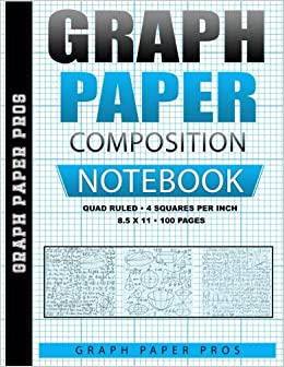 graph paper composition notebook 4 squares per inch blank