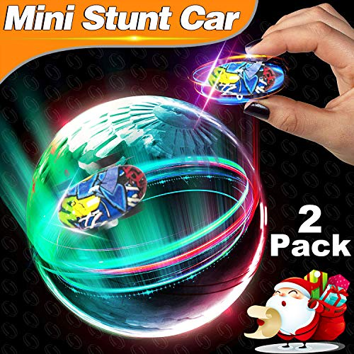 Mini RC Car Toys for Kids,2 Pack High Speed Mini Stunt RC Car 360° Rotating Climber Cars Light Up Hobby Toys Hand Control Racing Car Vehicles Crawlers Chariot Boys Girls Christmas Birthday Gifts