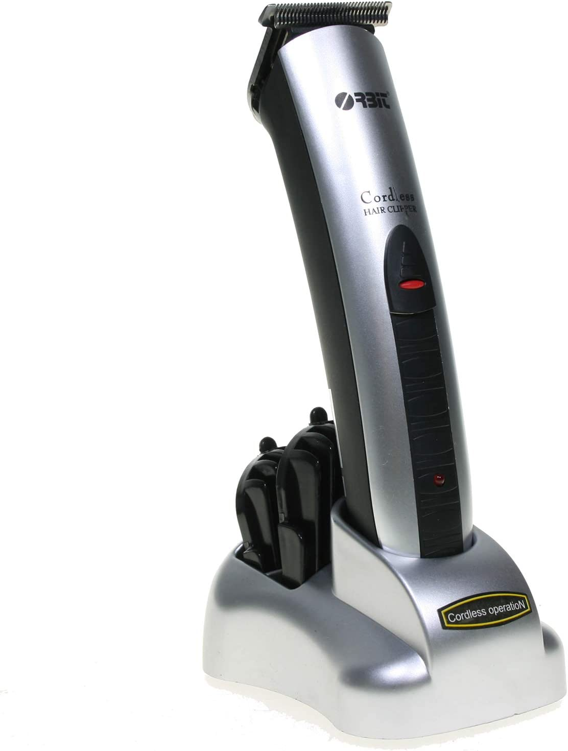 ORBIT CHC-B1 - Cortapelo recargable (base de carga, 2 peines 5-10 mm)