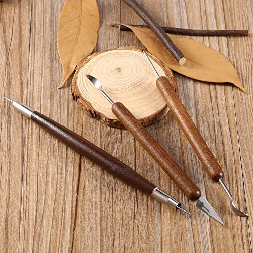TOPINCN 6本入り 粘土 彫刻ツール 粘土彫刻セット ワックス彫刻陶器ツール ポリマーモデリング