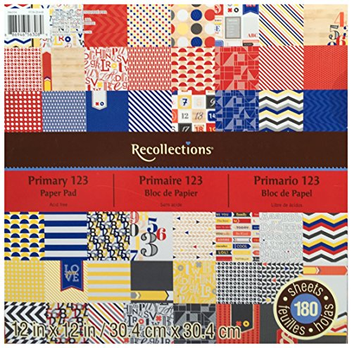 Recollections Paper Pad 12X12 180 Sheets PRIMARY 123