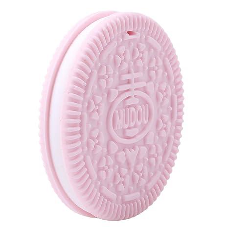 lnlyin Creative para galletas con forma de silicona bebé Mordedor Chupete masticables Juguete As description rosa
