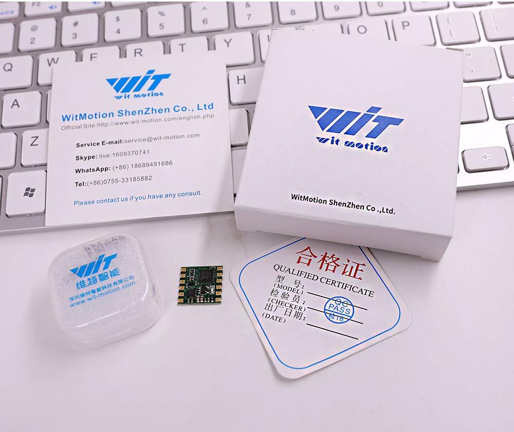 Quaternion Beschleunigungsmesser 3 Achsen Gyroskop WT61P 6-Achsen MPU6050 Sensor mit hoher Genauigkeit 2 Achsen Winkel 200 Hz-Ausgang magnetfeldunabh/ängig AHRS IMU Modul f/ür PC//Android//Arduino