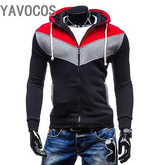 73ccdb80afc Amazon.com: YAVOCOS Hoodies Men Sudaderas Hombre Hip Hop Mens Brand Leisure  Zipper Jacket Hoodie Sweatshirt Slim Fit Men Hoody: Clothing