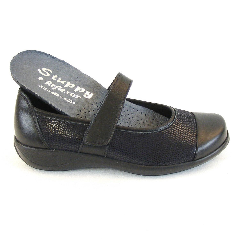 Stuppy , chaussons d'intérieur femme, Noir - Noir, 7.5