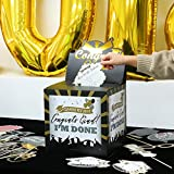UNOMOR Graduation Card Box Holder for 2018 Graduation Decorations Party Supplies