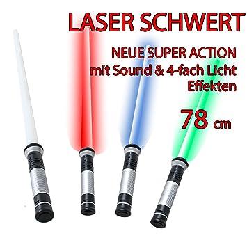 78 cm Laserschwert Lightsaber Sound 4 x free changeable Light effects blue  red green Blinking light