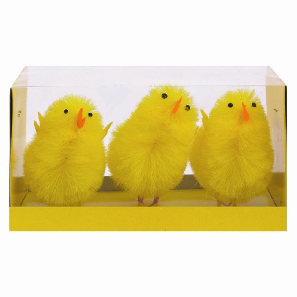 3 Pack Easter Chicks Large - 7.5cm ITP