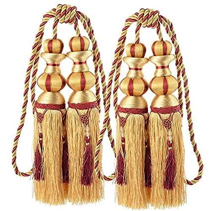 eDealMax Sala de Nylon Tejido de Bolas decoración de la Ventana de cortinas Tiebacks cuerda Retenciones