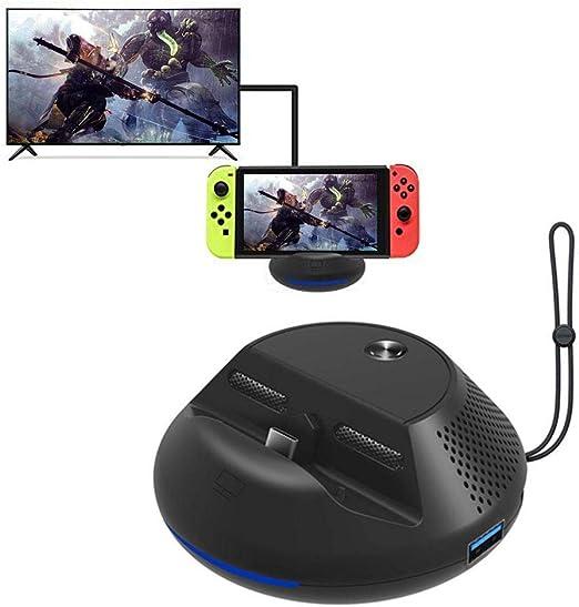 Base de TV portátil para Nintendo Switch, adaptador HDMI de viaje con 3 puertos USB, estación