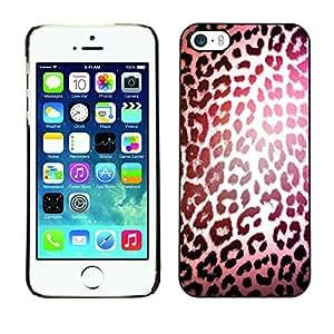 """For Apple iPhone 5 / iPhone 5S Case , Patrón Leopard luz reflectante Piel"""" - Diseño Patrón Teléfono Caso Cubierta Case Bumper Duro Protección Case Cover Funda"""