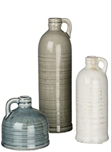 Sullivans Decorative Jugs Set of 3, Grey,