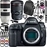 Canon EOS 5D Mark IV DSLR Camera with EF 16-35mm f/2.8L III USM Lens & EF 70-200mm f/2.8L IS II USM Lens 30PC Accessory Kit - Includes 64GB Memory Card + MORE