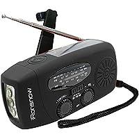TSSS iRonsnow Dynamo Emergency Solar Hand Crank Self Powered AM/FM NOAA Weather Radio LED Flashlight Smart Phone Charger…