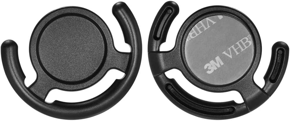 [2 Pack] ICARERCASE Socket Holder Phone Stand Grip Car Dashboard Mount for Collapsible Grip/Socket with 3M Sticky Adhesive Used Indoor and Car Navigation (Black)