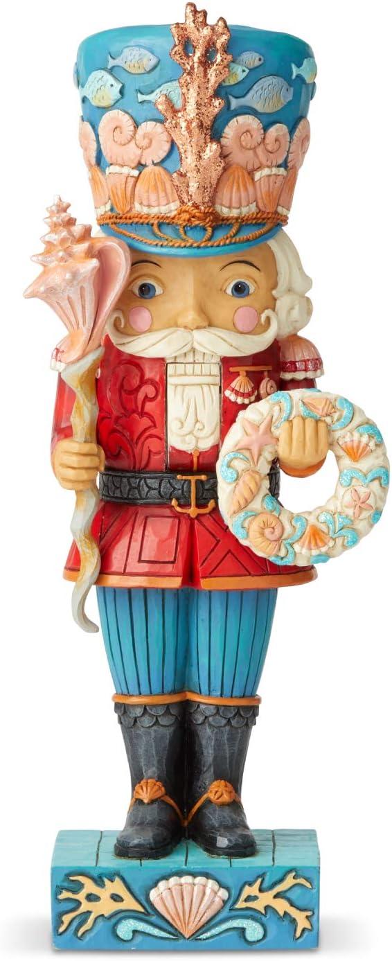 B07NF4JX39 Enesco Jim Shore Heartwood Creek Coastal Christmas Nutcracker Figurine, 10.24 Inch, Multicolor 61JuPOm-Z6L