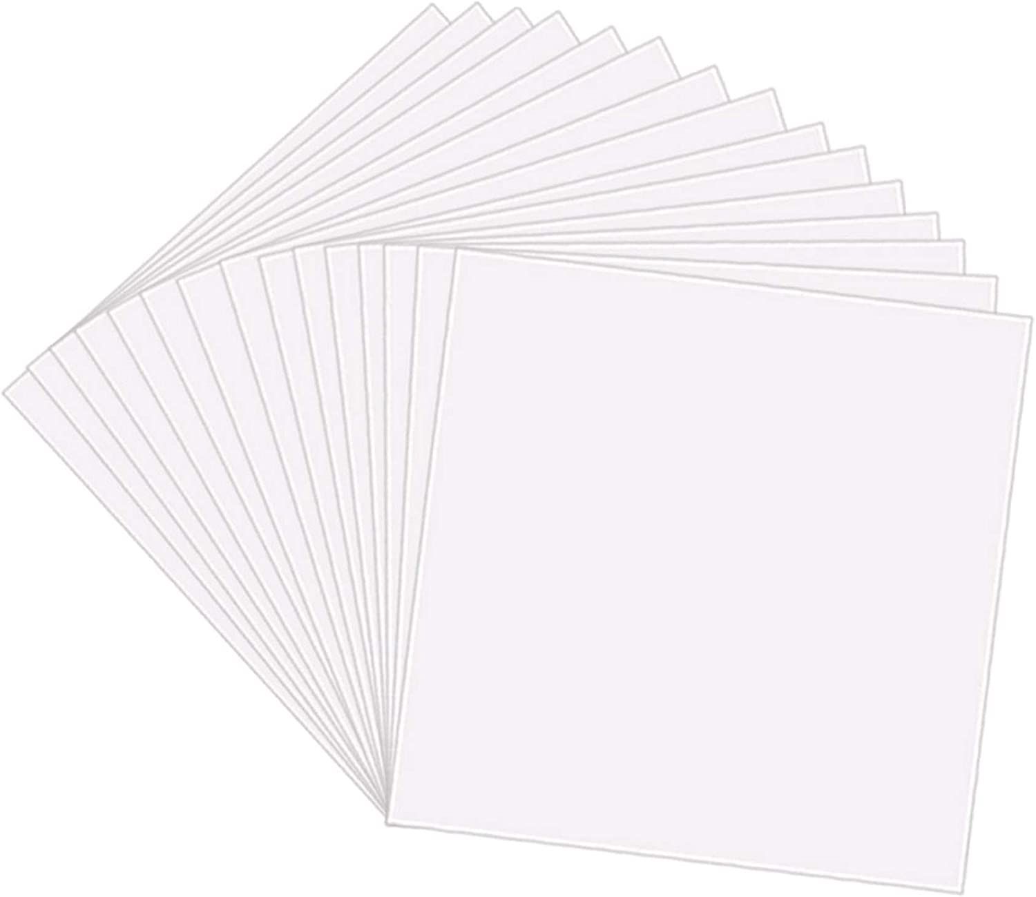 25 Pack 4 Mil Clear Mylar Stencil Sheets, 12