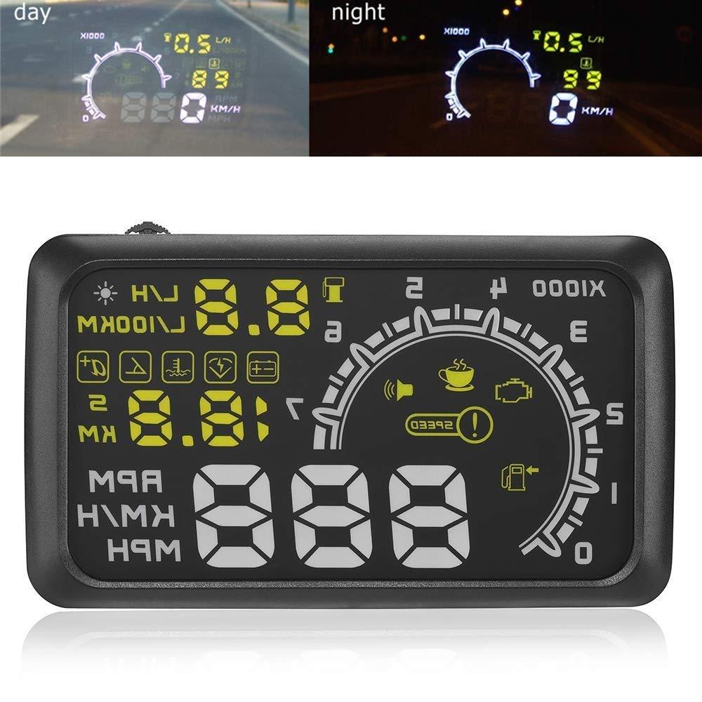 14 cm Auto OBDII OBD2 Port Auto HUD Head Up Display KM/H MPH Overspeed Achtung Windschutzscheibe Projektor Alarm System ePathChina®