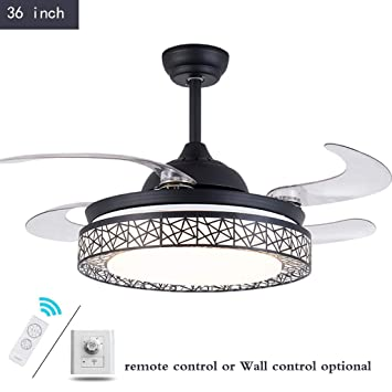 Amazon Com Zqh 36 Inch Black Ceiling Light With Fans