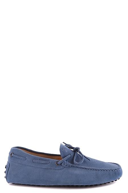 Men's MCBI293125O Blue Suede Loafers