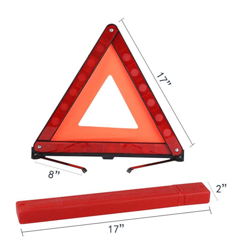 YWSDshop Car Warning Triangle,Emergency Reflective Warning Road Safety Triangle Signs Kit 1