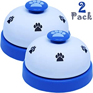 PERRIROCK Dog Training Bell 2 Set of Call Bell Dogs Footprint Pet Call Dog Bells for Potty Training