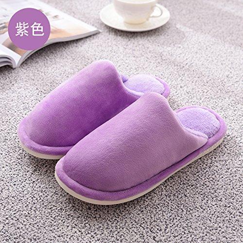 Del Los Algodón Laxba Púrpura Calientes Zapatillas De De Zapatos Antideslizante De 33 Invierno Felpa De Hombres 34 Mujeres La Dentro Acolchado Deslizador vvBqnTZw4