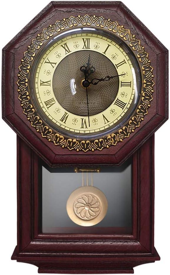 GZXYYY - Reloj de Pared de Estilo Antiguo, números Romanos