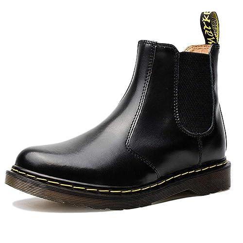 Chelsea In Sicurezza Classico Nera Brogue Uomo Formale Boots Pelle Srw4FSq