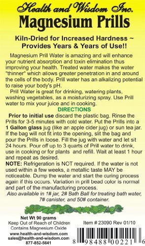 MAGNESIUM PRILLS 90 GRAMS FOR DAILY WATER by Health and Wisdom