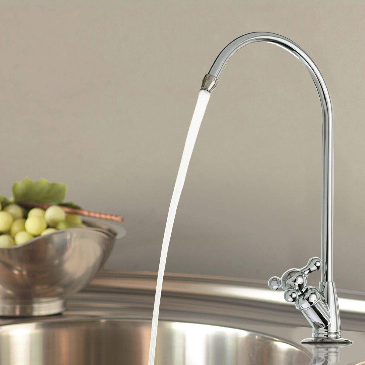 Aissimio RO Filter Drinking Water Faucet,Chrome RO Reverse Osmosis Kitchen Sink Drinking Water Filter Faucet Tap (Type B)