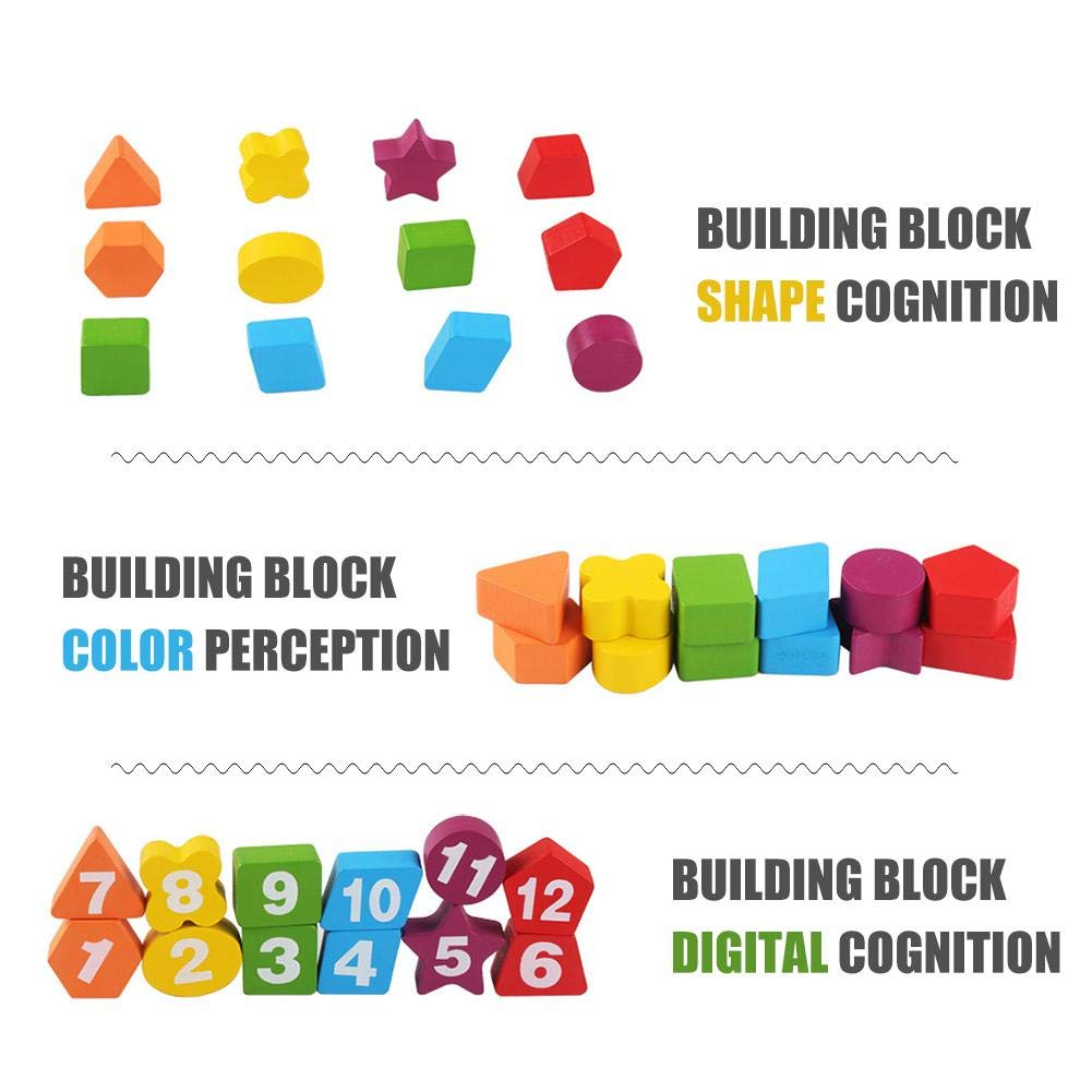 Amazon.com: Genekun Digital Clock Wooden Cartoon Animal Fun Puzzle Educational Toys for Child: Home & Kitchen