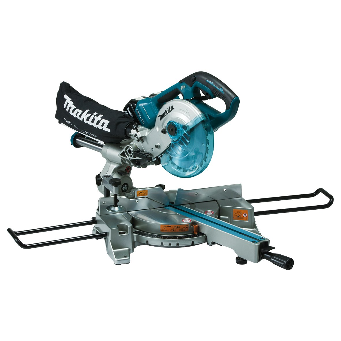 Makita DLS714Z Slide Compound Mitre Saw Twin 18V Cordless LTX 190mm (Body Only), 1 W, 36 V, Multi, Large><br /> </strong></h3> <p style=