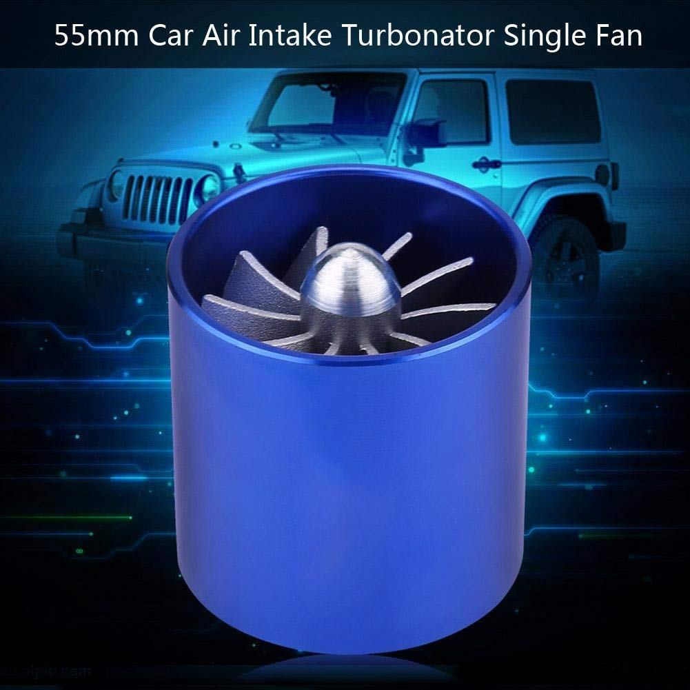 Turbonator dadmission dair Fuel Saver 1 PC de super chargeur de turbine de voiture de voiture de 55mm Gas Fuel Saver Turbo.