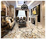 ZLJTYN 320cmX210cm Custom 3 d PVC wallpaper photo wallpaper Hotel lobby stone floor spelling a flower art ceramic tile floor wallpaper